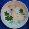 Clover Wheaten Terrier Hand-Painted Bowl