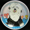 Chopin Sheepdog Hand-Painted Bowl