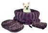 Snuggle Bug Carrier/Bed in Purple Leopard