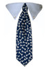 Blue Bones Tie Collar