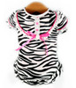 Satin Wild Zebra Nightgown