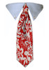 Red Hibiscus Tie Collar