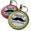 Curly Mustache Pet ID Tag