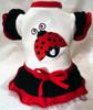 Lovie Ladybug Ruffled Dog Dress