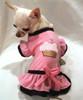Strawberry Cupcake Ruffled Dog Dress