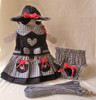 My Heart Gingham Harness Dress Set