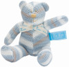 Le Bear Knit Squeaky Toy in Blue or Pink