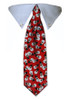 Red Snowman Tie Collar