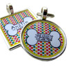 Retro Polka Dots Bone Pet ID Tag
