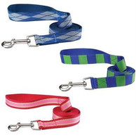 Blue and Green Square Dog Lead