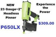"""GREX Headless Pinner/ 23 Gauge 2"""" ~ Model P650LXE"""
