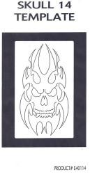 GREX - Airbrush - Templete ~ Skulls 14