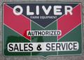 Embossed Oliver Sign
