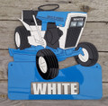 White Town & Country Garden Tractor Sign