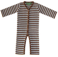 cashmere layette blue + brown lounger