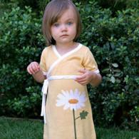 organic cotton/bamboo daisy kimono dress