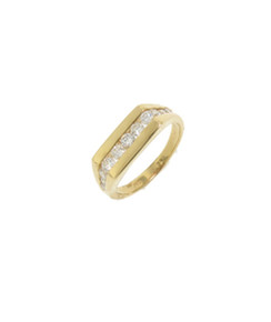 Ultimate Diamond Bar Pinky Ring. 18K