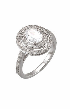 Oval Double Diamond Halo Ring.   Complete ring starting at $7200. with different size center stones.