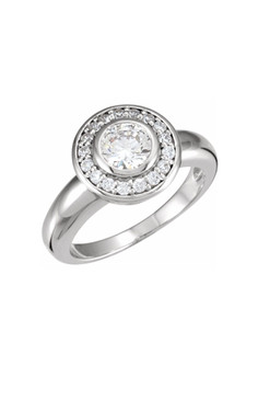 Simple and Beautiful Round Halo Ring