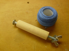 Dowel adapter for DMC perle cotton.