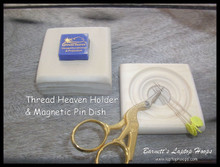 Thread Heaven Holder and Pin Dish make nice additions to your Applique Laptop Table.