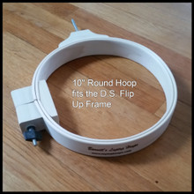 """10"""" hoop is pictured here. I still need to update it.  I will send you a 12""""."""