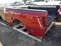 2005 Nissan Titan red tool box