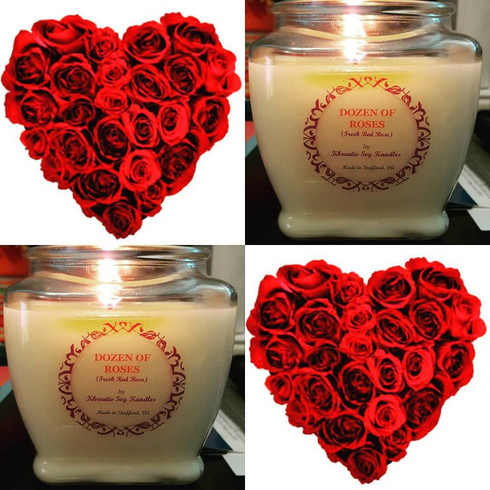 Spoil yourself with the scent of fresh cut roses and a touch of jasmine. (6oz shown)