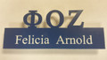 Zeta Acrylic Cut Out Name Badge