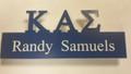 Sigma Acrylic Cut Out Name Badge