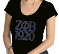 Zeta Chapter Bar Bling T-Shirt:  Scoop Neck (2X)