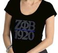 Zeta Chapter Bar Bling T-Shirt:  Scoop Neck (2X)