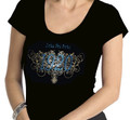 Zeta Filigree Bling T-Shirt:  Scoop Neck