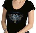 Zeta Filigree Bling T-Shirt:  Scoop Neck (2X)
