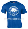 Zeta Centennial Series Royal T-Shirt (2X - 4X)