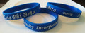 Zeta Embossed Silicone Wristbands