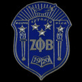 Zeta Crest Pin with Crystals