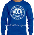 Zeta Centennial Series Royal Long Sleeve T-Shirts (2X - 3X)