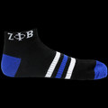Zeta Ankle Socks - Royal, Black & White