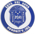 Zeta Shield Logo Car Emblem