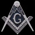 Masonic Logo Car Emblem - Silver