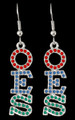OES Crystal Earrings - Silver