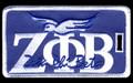 Zeta Luggage Tag - Greek Letters w/ Dove