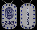 Zeta Shield Bling Dog Tags