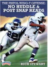 "Coach Stewart takes you through his up-tempo ""NASCAR pace"" offense. This no huddle attack with post snap reads will create imbalance for every defense you face. Increased plays, counters for every defense, reads for every defense, and formations to create mismatches are all on display"