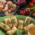 A fiery mix of succulent whole shrimp spiced with hot chilies, curry and cilantro in a spring roll wrapper.   Units/case: 100