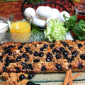 Deep Dish Pancakes with Blueberry and Granola