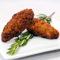 Chicken tender coated with bread crumbs and pecans.   Units/case: 100
