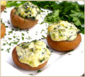 Boursin Stuffed Mushroom with Spinach
