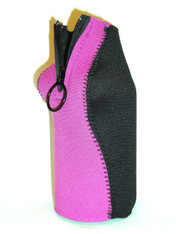Bottle Koozie ~ Fuchsia/Black ~ 22101